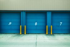 Free Photo Of Blue Shutter Door Stock Photo - 109635440