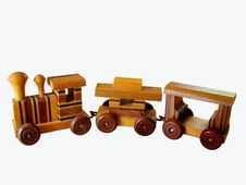 Free Old Wooden Toy Train Stock Photography - 10976032