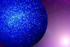 Sparkly Christmas Globe Stock Photography