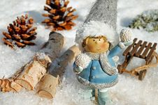 Free Winter, Snow, Snowman, Christmas Ornament Royalty Free Stock Photos - 109830218