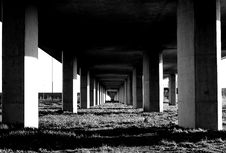 Free Grayscale Photo Under The Bridge Stand Stock Photos - 109883803