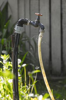 Free Black Valve Attached To A Hose Royalty Free Stock Photo - 109884135