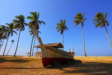 Free Beach, Coconut, Cottages Stock Images - 109885124
