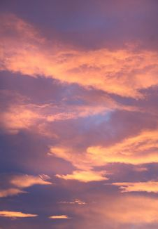 Free Orange Blue Cloudy Sky Royalty Free Stock Photos - 109885458