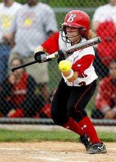 Free Woman Holding Baseball Bat Royalty Free Stock Image - 109885516