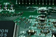 Free Green Computer Circuit Board Royalty Free Stock Image - 109885576