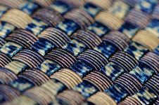 Free Blue Black And Gold Woven Textile Royalty Free Stock Image - 109885586