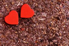 Free Two Red Heart Decoration On Ground Royalty Free Stock Image - 109885616