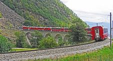 Free Red Train On Black Steel Train Rail During Day Royalty Free Stock Image - 109885636