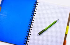 Free Green And Silver Push Pen On White Ruled Paper Indoors Stock Images - 109885644