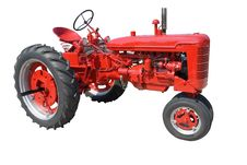 Free Red Tractor Stock Photo - 109885650