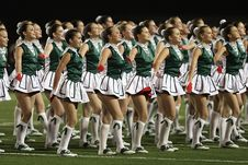 Free Group Of Cheerleader On Green Field Royalty Free Stock Photos - 109885658