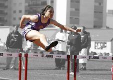 Free Woman In Purple Tank Top Run Olympics Games Stock Photos - 109885683