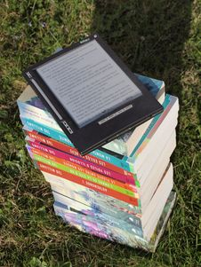 Free Blue Pink Gray And Green Labeled Hardbound Book Pile On Green Grass During Daytime Royalty Free Stock Photography - 109885687