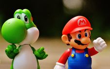 Free Super Mario And Yoshi Plastic Figure Royalty Free Stock Image - 109885956