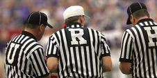 Free 3 Referees Standing On Field Stock Photography - 109886112