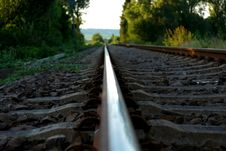 Free Brown Train Rail On Close Up Photo During Daytime Stock Image - 109886151