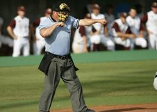 Free Tilt Shift Photography Of A Baseball Referee Royalty Free Stock Image - 109886156