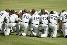 Free Baseball Player Kneeling On Grass Field During Daytime Stock Image - 109886161