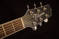 Free Brown And Black Takamine Guitar Headstock Stock Photo - 109886210