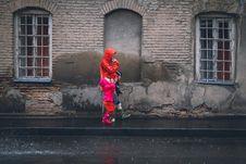 Free Children And Man Walking On A Sidewalk During Daytime Stock Photo - 109886240
