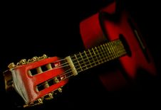Free Black And Red Classic Guitar Stock Images - 109886244
