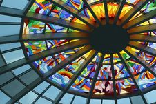 Free Stained Glass Ceiling During Daytime Stock Photography - 109886272