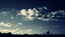 Free Silhouette Of Trees Under Cloudy Sky Royalty Free Stock Photo - 109886425