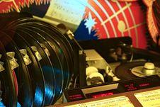 Free Vinyl Albums Near Player Stock Photo - 109886430