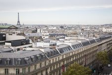 Free Top View Of Paris City And Eiffel Tower Royalty Free Stock Photo - 109886435