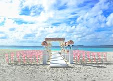 Free Beach, Chairs, Clouds Royalty Free Stock Image - 109886526