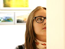 Free Woman In Black Frame Eyeglass Stock Photography - 109887572