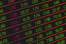 Free Stock Exchange Board Royalty Free Stock Images - 109888119