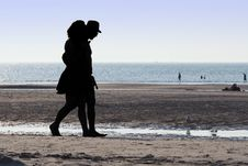 Free Adults, Beach, Black Royalty Free Stock Image - 109888226
