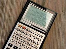 Free Black And Grey Casio Scientific Calculator Showing Formula Royalty Free Stock Image - 109888436