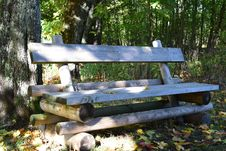 Free Brown Wooden Bench Near Tree Stem Royalty Free Stock Photo - 109888525