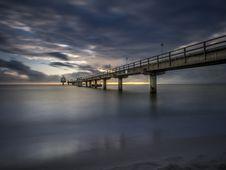 Free Concrete Under Gray Sky Bridge Long Exposure Photography Stock Photography - 109888762