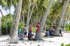 Free Beach, Children, Coconuts Stock Photo - 109889040