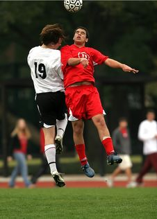 Free 2 Soccer Player Had A Collision Stock Photography - 109889162