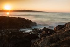 Free Scenic View Of Sea Against Dramatic Sky During Sunset Royalty Free Stock Images - 109889489