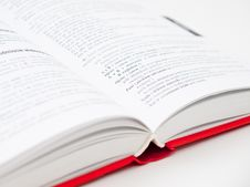 Free Close-up Of Open Book Stock Image - 109889661
