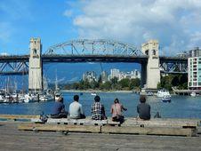 Free Tourists At Harbor Stock Image - 109889741