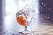 Free Close-up Of Water Splashing In Glass Stock Photos - 109889843