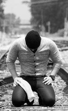 Free Black-and-white, Guy, Kneeling Stock Photos - 109890163