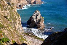 Free Beach, Capo-rocca, Cliff Stock Image - 109890171