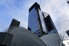 Free Low Angle View Of Skyscrapers Against Sky Royalty Free Stock Image - 109892236