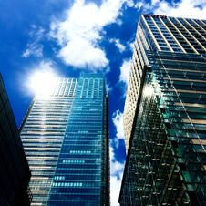Free Low Angle View Of Skyscrapers Against Sky Stock Image - 109892281