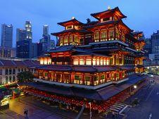 Free View Of Illuminated City At Night Royalty Free Stock Photography - 109892407