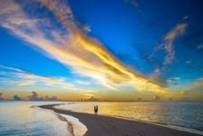Free View Of Beach At Sunset Royalty Free Stock Image - 109892766