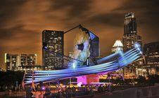 Free Illuminated City At Night Stock Image - 109892771